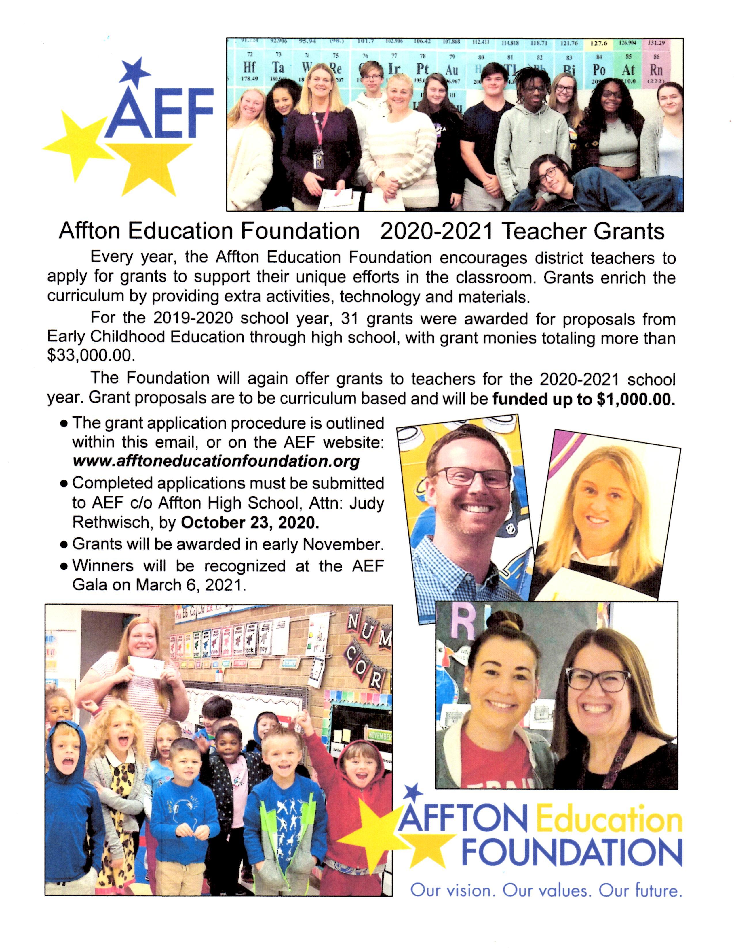 Teacher Grants 2020
